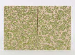 """Green Floral Study (diptych) - 8"""" x 12"""", glitter on wood panel, 2015"""