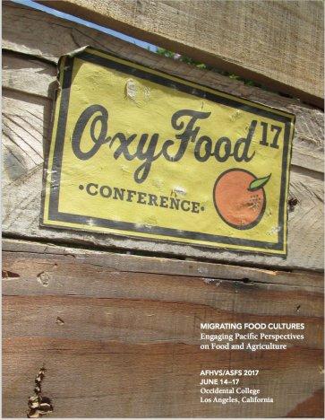 Oxy Food 17 Program, design: Alyssa Lang
