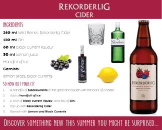 Rekorderlig Discover Something New This Summer Recipe Card - Back