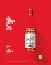 Stolichnaya Vodka A4 Magazine Advert