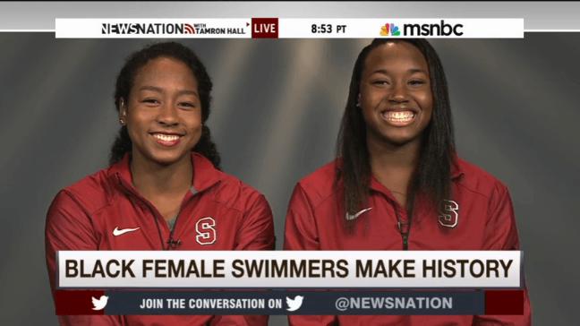 black female swimmers