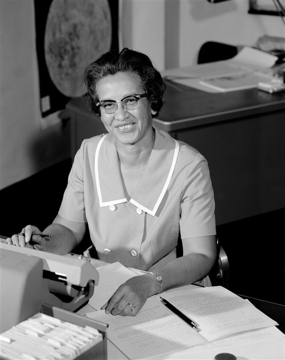 NASA space scientist and mathematician Katherine Johnson at Langley Research Center in Va in 1966.NASA Getty Images file
