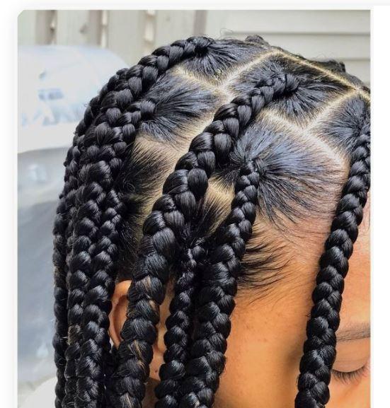 slick your hair for jumbo knotless braids