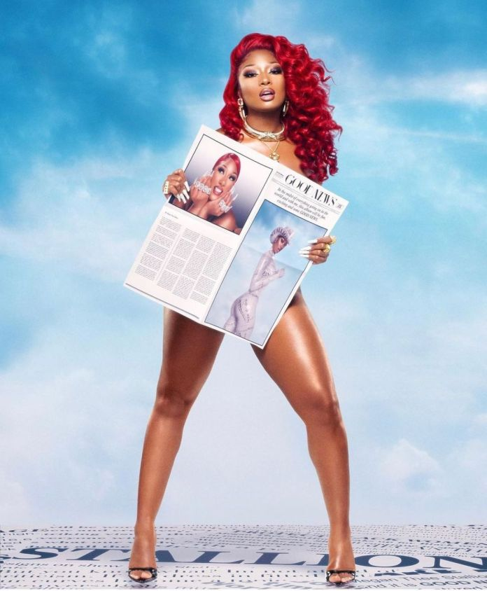 Megan Thee Stallion with red hair