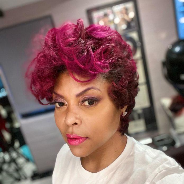 Taraji P. Henson pink cut