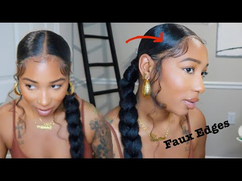 Trendy Kay Faux Edges and Baby Hair