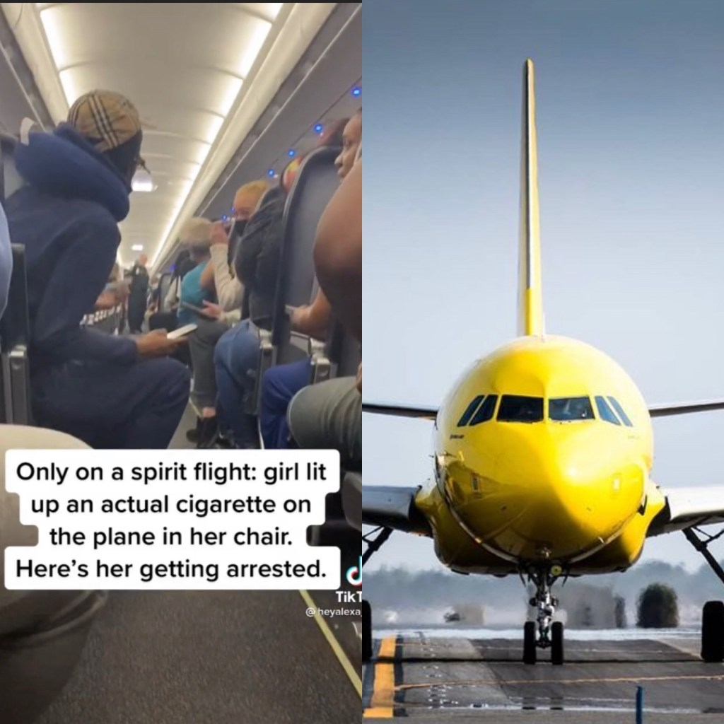 Only On Spirit! Woman Lights A Cigarette On The Plane, Gets Arrested