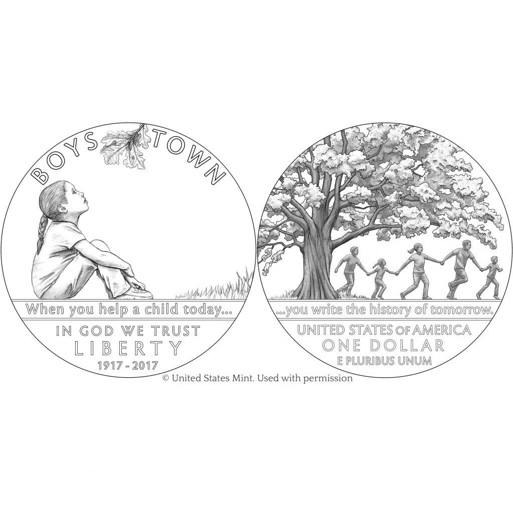 boys town silver coin