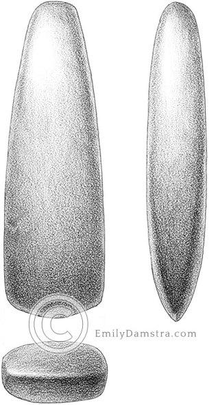 Axe head illustration