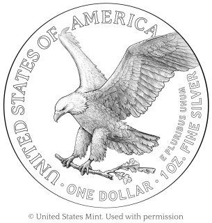 2021 American Eagle Silver coin reverse design