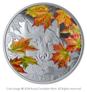 Wily wolf silver coin