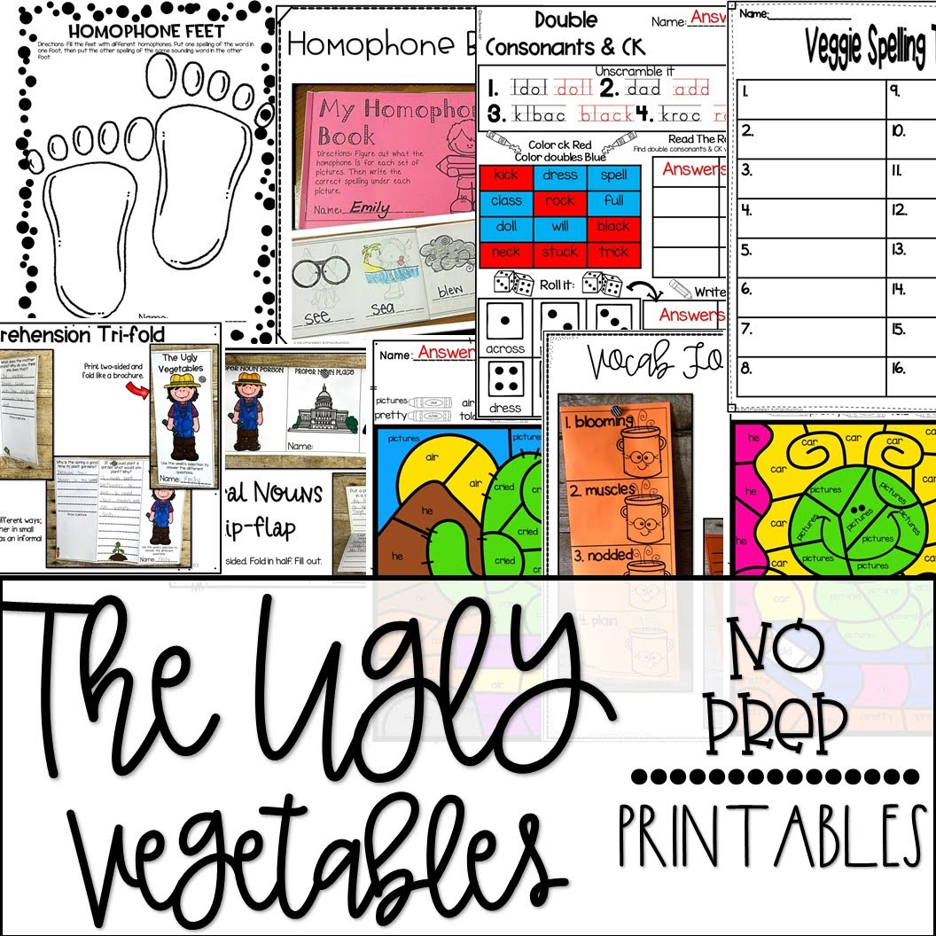 The Ugly Vegetables Supplement Materials Aligned With