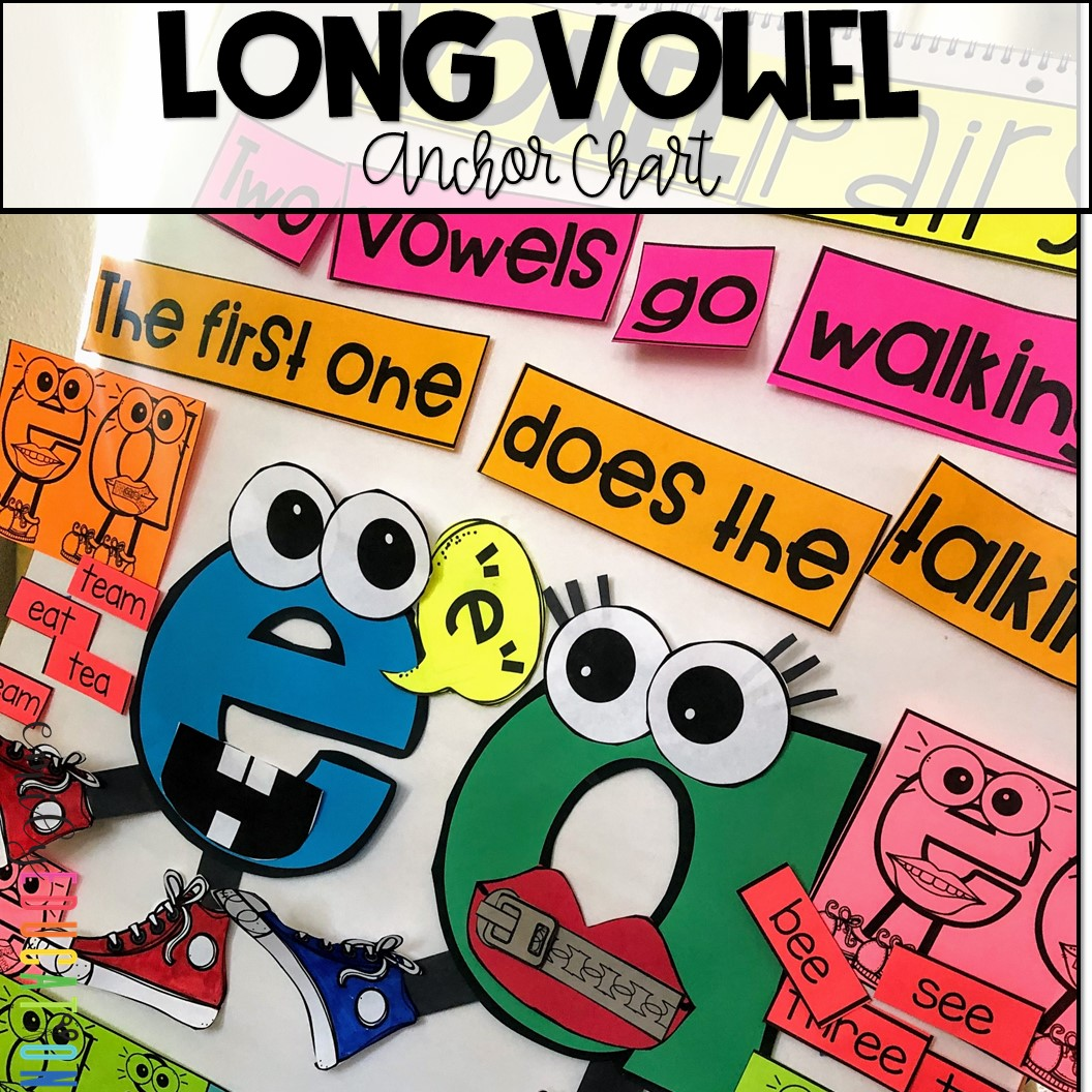Two Vowels Go Walking Long Vowel Anchor Chart