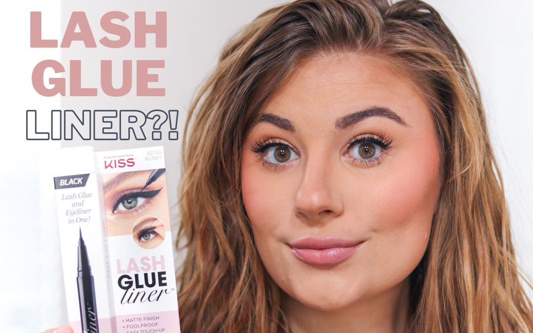 EASIEST WAY TO APPLY FALSE LASHES!!! |  KISS LASH GLUE LINER REVIEW