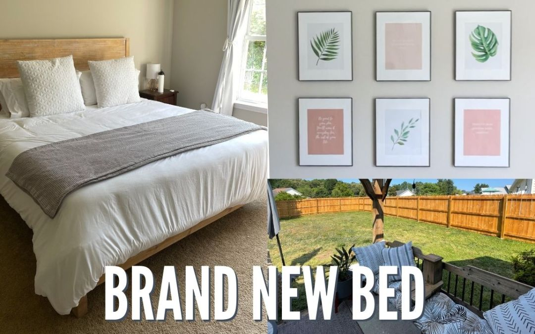 SO MANY UPDATES | EASY GALLERY WALL, NEW BED & STAINED FENCE