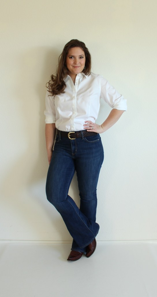 How To Hem Jeans via Emily Hallman