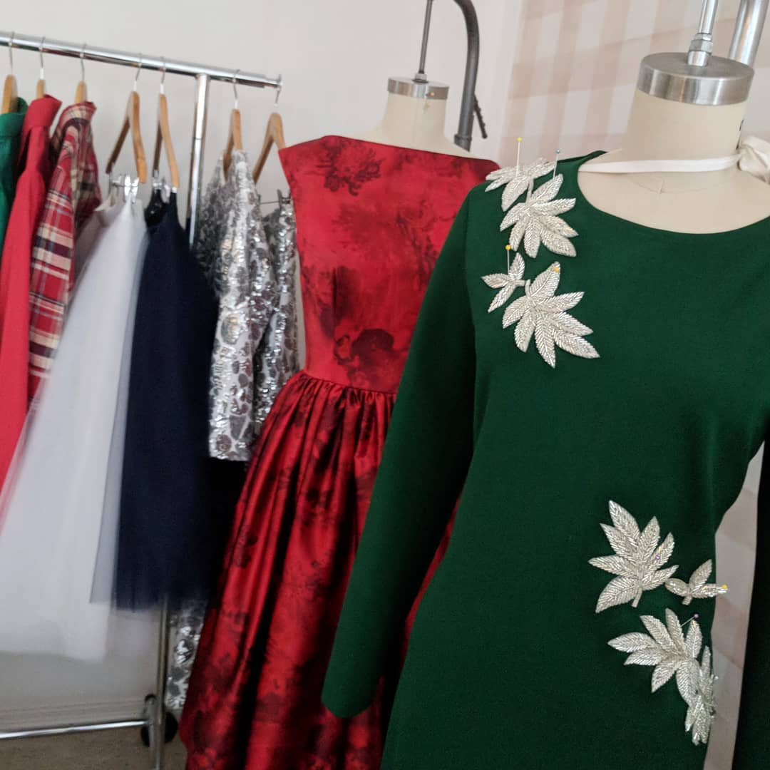 All the Christmas colors please The green dress is anhellip
