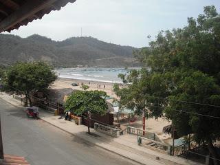 View from Hotel Pacifico, Puerto Lopez, Ecuador