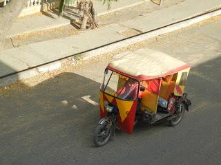 Mototaxi in Puerto Lopez, Ecuador