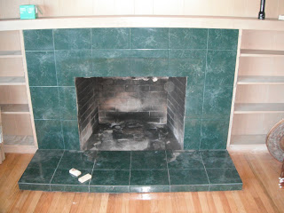 Old wood burning fireplace