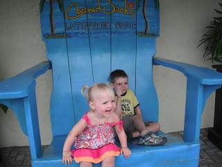 Grandkids on huge chair