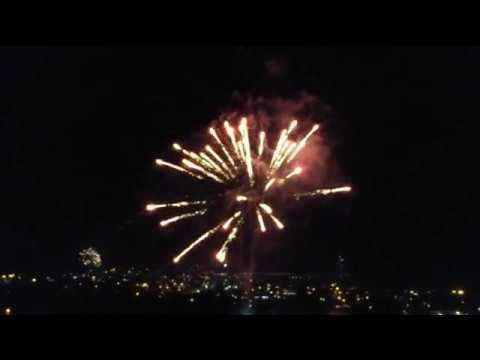 Fireworks over Puerto Lopez