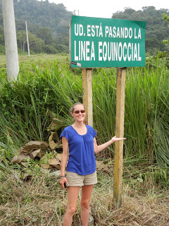 Emily with equator sign