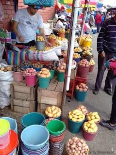 Potato vendor at Feria Libre, Cuenca, Ecuador