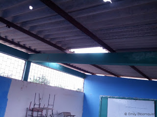Holes in Puerto Lopez classroom roof