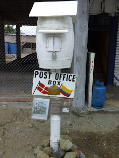 Historic post office box in Puerto Lopez, Ecuador