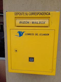 Outgoing mailbox, Ecuador