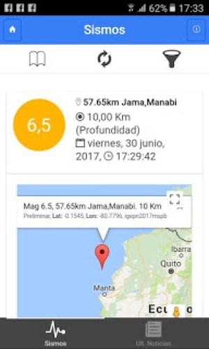 Jama earthquake Sismos reading