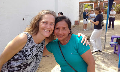 Emily and Fatima at the orphanage