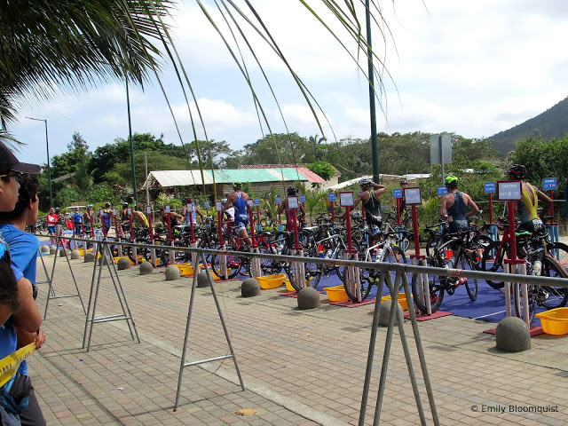 Triathlon transition area