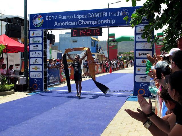 Men's triathlon winner