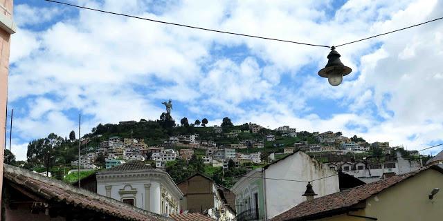 El Panecillo from Calle La Ronda Quito Ecuador