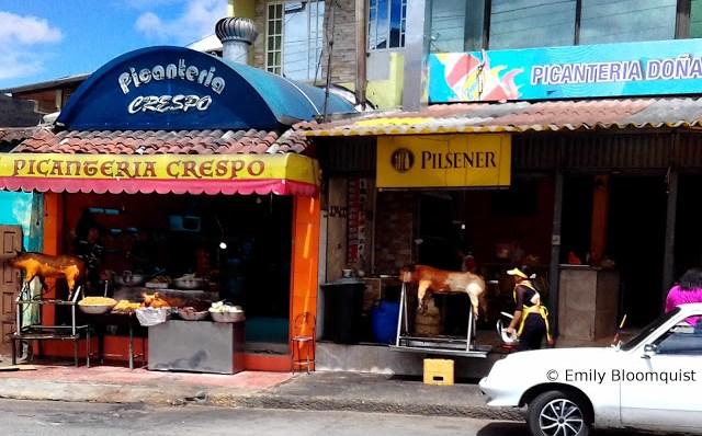 Pork restaurants in Cuenca, Ecuador (Picanterias)