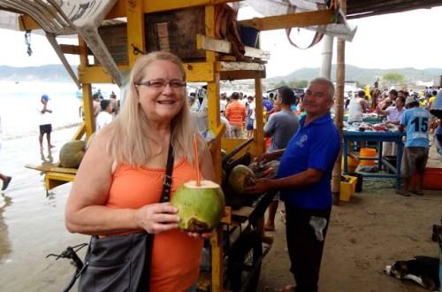 Coconut at Puerto Lopez fish market