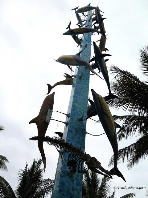 Dolphin statue - Puerto Lopez, Ecuador