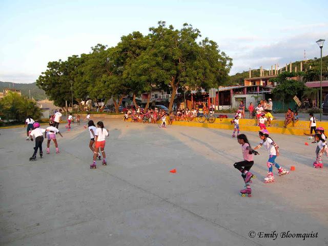 Skating class, Puerto Lopez, Ecuador
