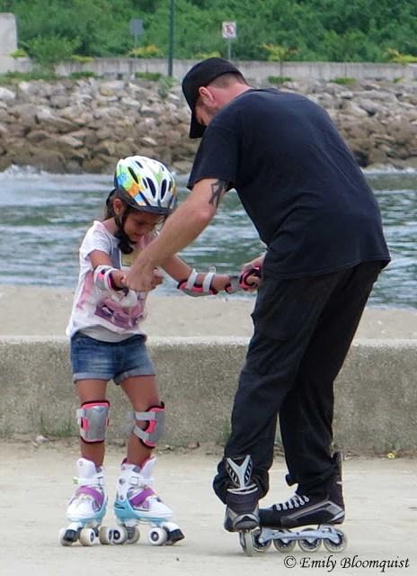 Matt teaching a girl skating methods