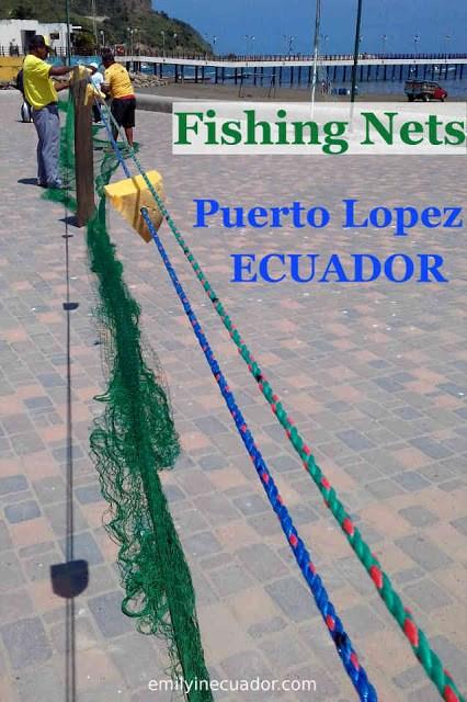 Fishing net artisans in Puerto Lopez, Ecuador