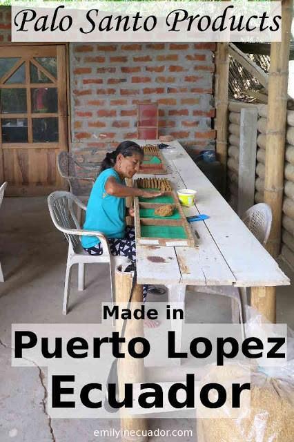 Palo Santo products made in Puerto Lopez, Ecuador