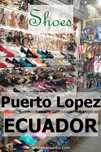 Shoes in Puerto Lopez, Ecuador
