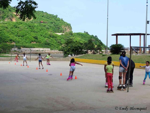 Skating practice, Puerto Lopez, Ecuador