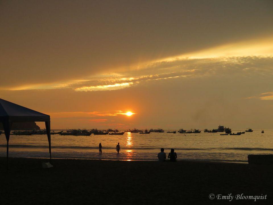 Puerto Lopez, Ecuador sunset