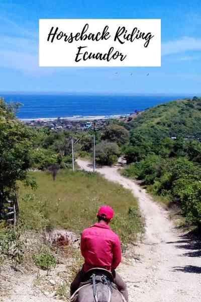 Horseback riding in coastal Ecuador - beach, river, hills, butterflies, hummingbirds