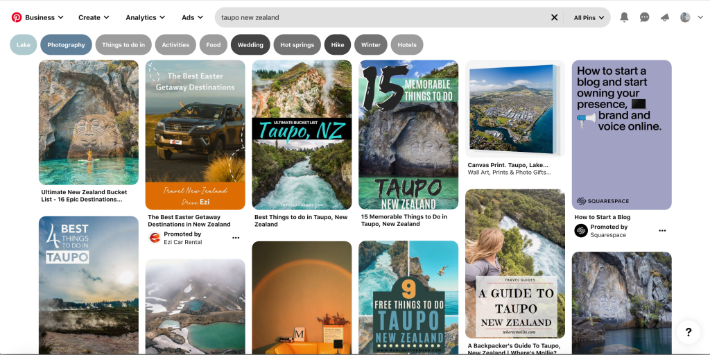 Pinterest search things to do in Taupo New Zealand