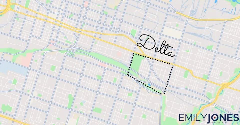 Delta Area Map Overlay