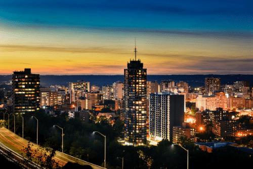 Hamilton Skyline at Sunset